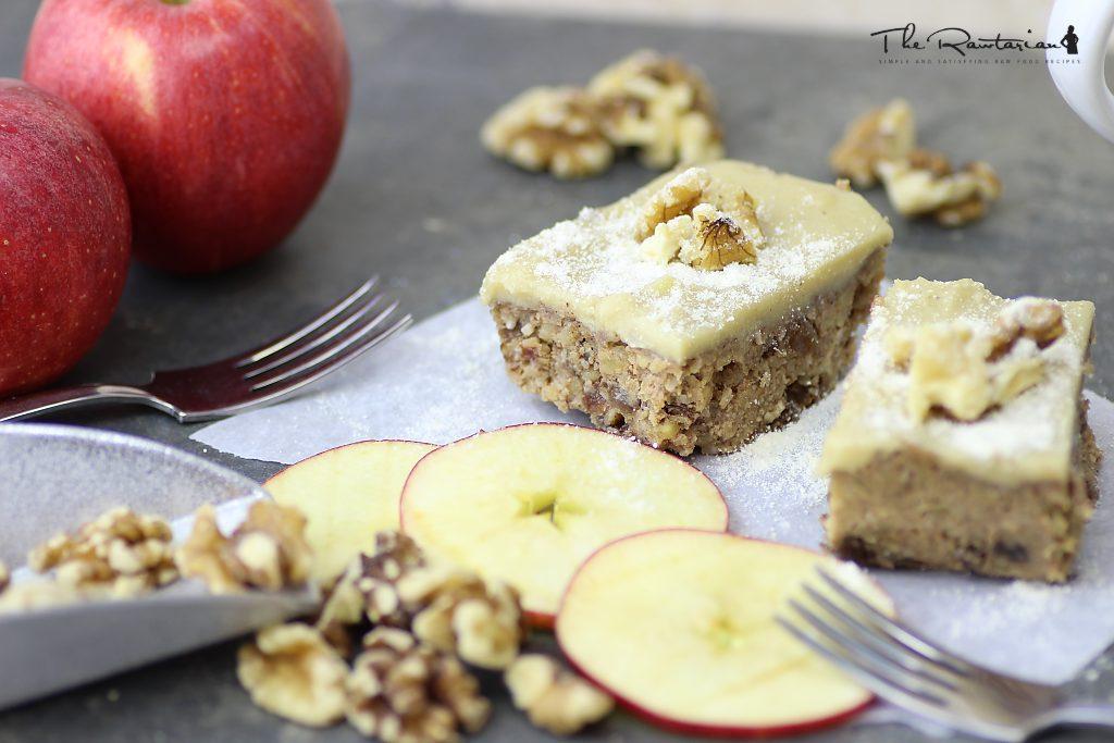 Raw Apple Nut Cake Recipe