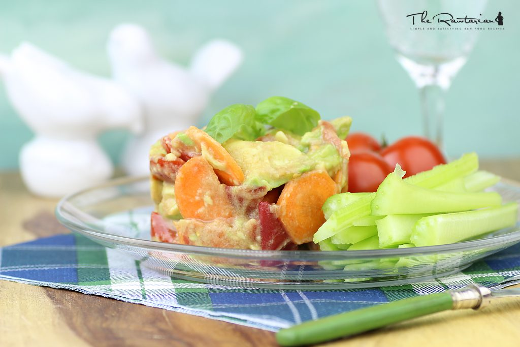 Raw food to go the rawtarian avocado carrot tomato salad forumfinder Gallery