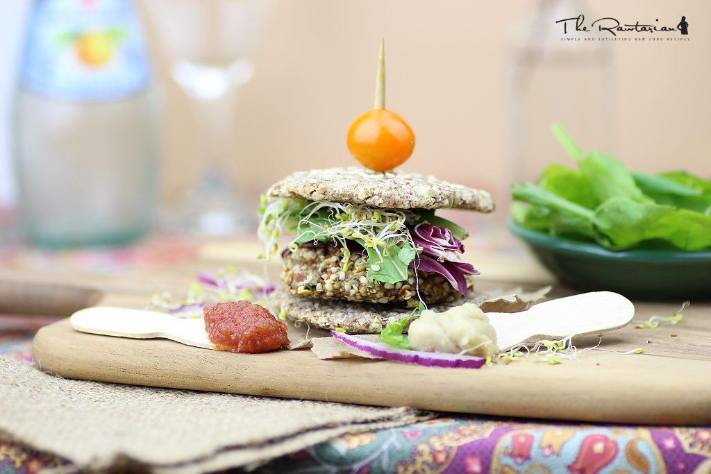 The Rawtarian's Raw Veggie Burger