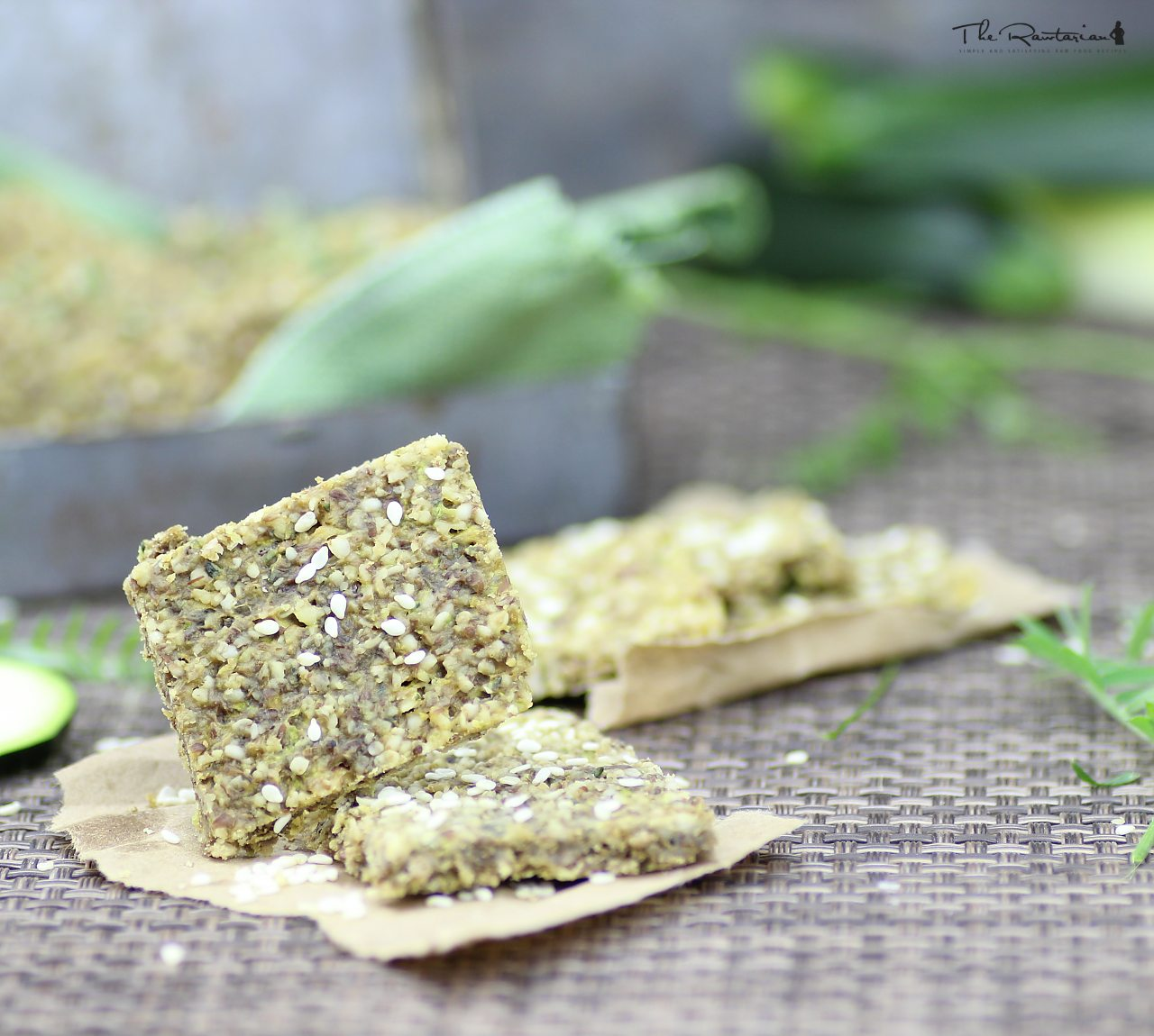 Raw cracker recipe buttery walnut zucchini crackers the rawtarian forumfinder Images