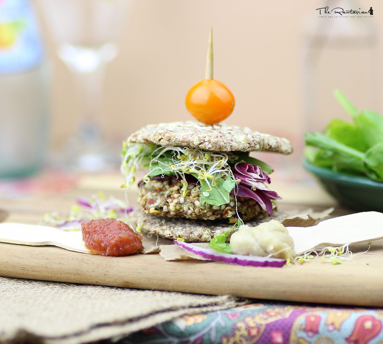 Raw veggie burger recipe the rawtarian forumfinder Images